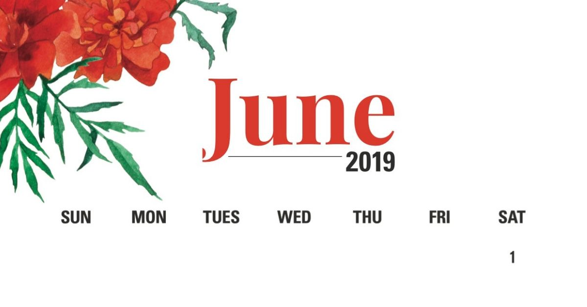 June 2019 Calendar Download
