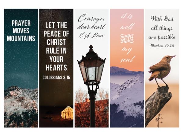 Printable Christian Bookmarks